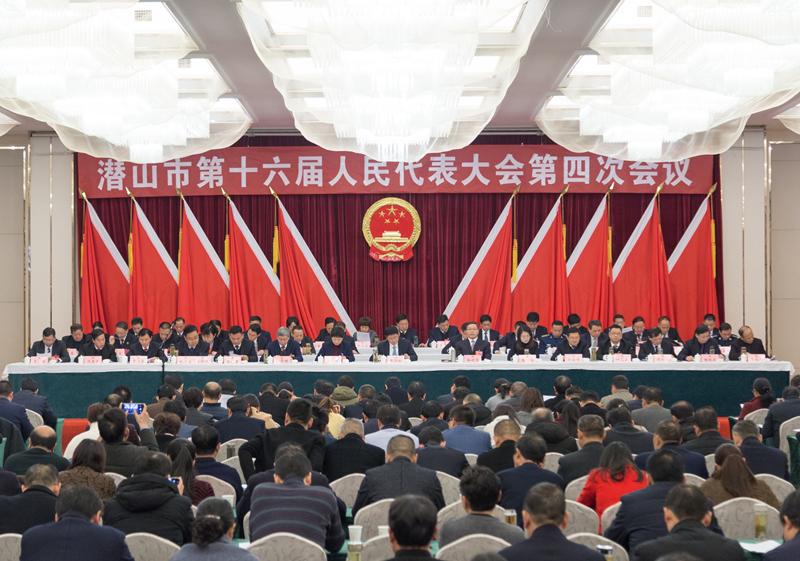潜山市第十六届人大四次会议举行第二次大会
